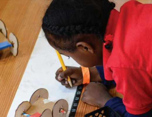 black child drawing, STEM success, black child writing, minority writing, pencil, thinking, taking measurements